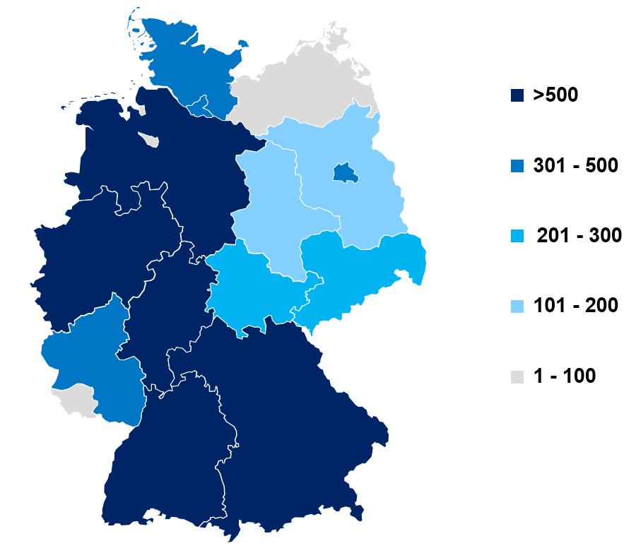 Ladesäulenkarte (Daten: Bundesnetzagentur.de, 08.03.2019)
