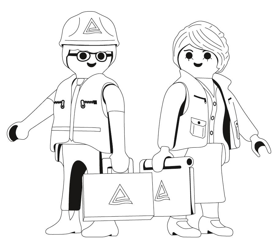 Playmobil gezeichnet